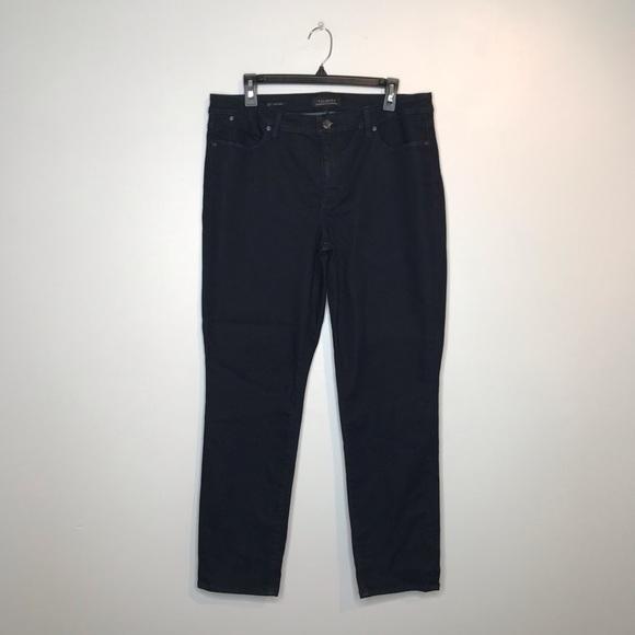 Talbots Denim - Talbots Flawless Dark Navy Slim Ankle Jeans (J017)